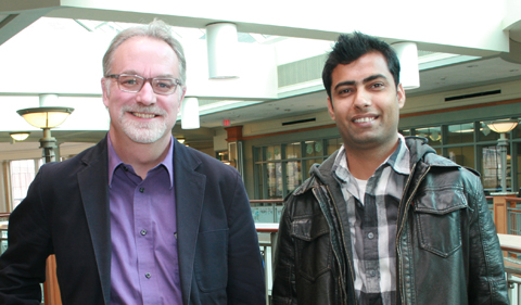 Dr. David Drabold and Physics Doctoral Student Bishal Bhattarai
