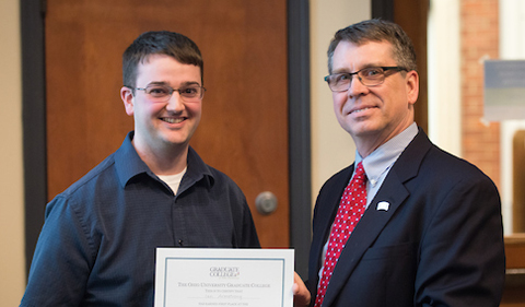 Ian Armstrong won first prize in the 3 Minute Thesis Competition held on Feb. 15.