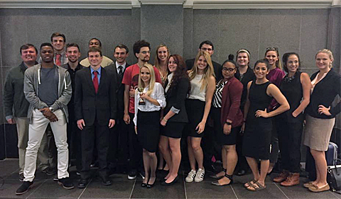 OHIO Mock Trial Team after Columbus Regional. This is a group shot.