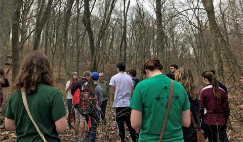 Students listening to John Winnenberg of Sunday Creek Associates. Photo taken by Paige Shoemaker in CAS 2300x.