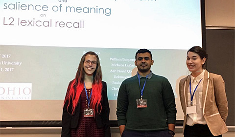 Torri Raines, Talal Alharbi and Olga Sormaz traveled to Washington, D.C., to present research project at the Georgetown University Round Table (GURT).