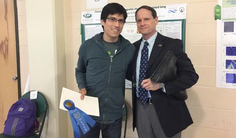 Oscar Avalos Ovando with Dr. Descutner