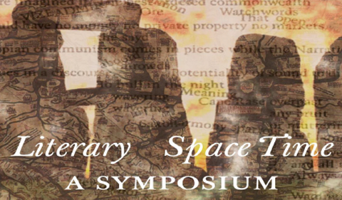 Literary Space Time: A Symposium, graphic with illustration of Stonehenge