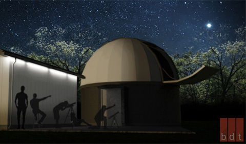 Observatory architect's illustration