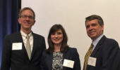 From left, Dr. Joseph Shields, Psychology graduate student A. Raisa Ray, and Dr. David Koonce