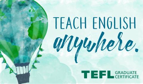 Teach English Anywhere, graphic for TEFL program at Ohio University