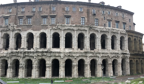 Theater of Marcellus, near the Capitolion in central Rome. Photo by Francisco Cintron.