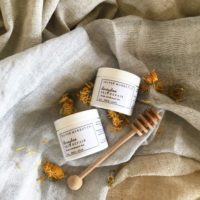 SM Co. Honeybee Salve with honey dipper