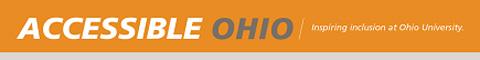 Accessible Ohio graphic: inspiring inclusion at Ohio University
