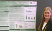 Jessica Smith presents a research poster at the Association for Behavioral and Cognitive Therapies (ABCT) convention.