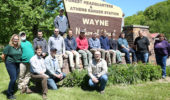 Ohio University interns with faculty and staff from OHIO and the Wayne National Forest.