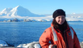 Amanda Biederman highlighting the Antarctic environment near Palmer Station, Antarctica.