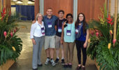 Dr. Sarah Wyatt and her lab group: Alex Meyers, Colin Kruse, Proma Basu, Anne Sternberger in Hawaii
