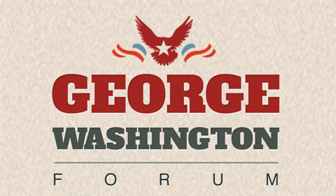 George Washington Forum logo, with eagle