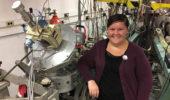 Nuclear physics graduate student Andrea Richard
