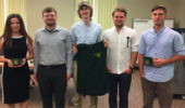 From left, students Devon Cottrill, Kyle Brooks, Trevor Somogyi, Sam Heckel, and Zachary Matthews