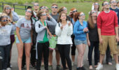 Ohio University students viewing the partial transit of Venus in 2012     Photo: Maryanne Hartwick