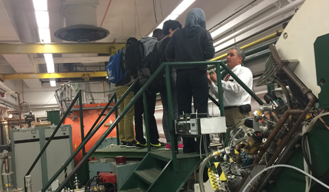 Dr. David Ingram describes the operation of the accelerator.