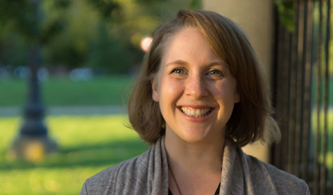 Dr. Lauren Elliott-Dorans, photo taken outside.