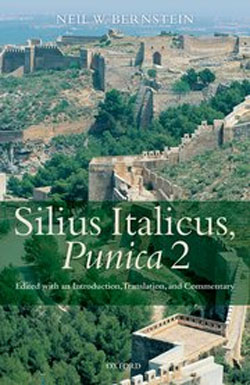 Silius Italicus Punica 2 book cover, showing ancient ruins