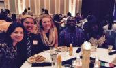 CASSA team at the 30th International Dinner on October 1, 2017 (left to right): Tetyana Dovbnya, Jordan Francisco, Madison Groene, Yohannes Berhane, and Precious Oluwasanya.