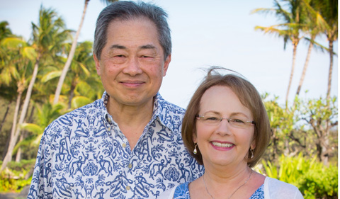 Ed and Charlotte Chow, in an outdoor photo