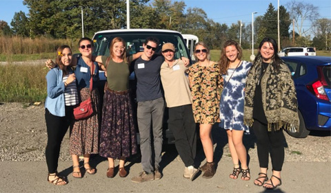 Food Matters club members on trip to Chatham University