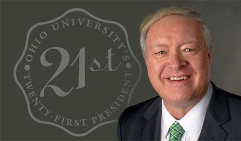 President M. Duane Nellis, shown with 21st president logo