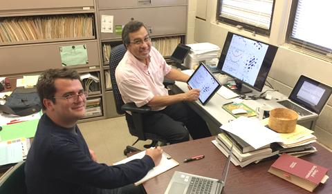 Doctoral student Tomas Rojas Solorzano and Professor Sergio Ulloa