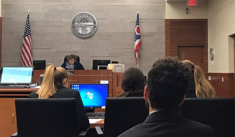 Ohio University Mock Trial competes in Columbus