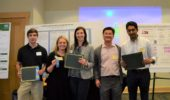 Neuroscience Research Day award ceremony: Dakota Brockway, Mary Gemmel, Catherine Early, Daewoo Lee, Nilaj Chakrabarty.