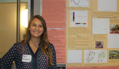 Kyra Reisenfeld presenting her poster at OARC.