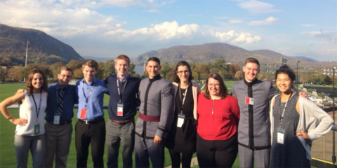Literary group at the Student Conference on U.S. Affairs at West Point, shown here in group photo.