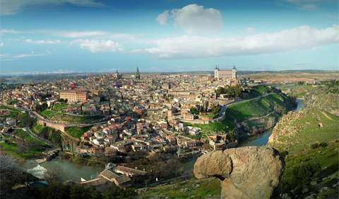 From air photo of Toledo, Spain