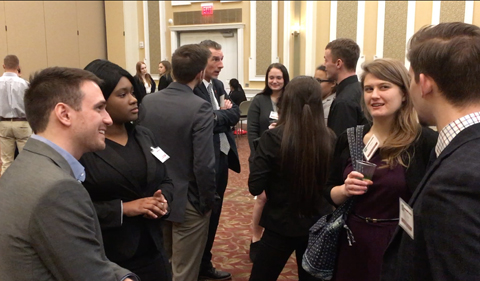 Alumni and students network at the 2017 Arts & Sciences Alumni and Student Networking Reception