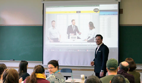 Bern showcases online instruction at CUFS—it's all about engagement and student-centered learning, as seen in this instructional video based on a game show format