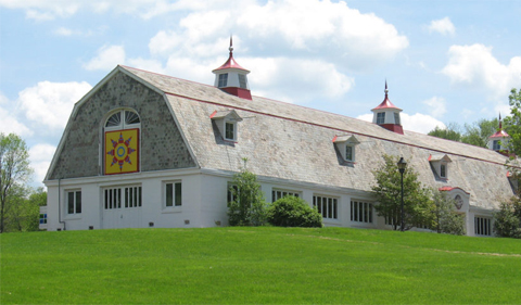 The Dairy Barn, photo taken from bottom of hill looking up