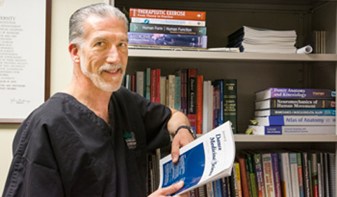 Dr, Jeff Russell, portrait in his office