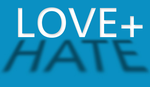 Logo for Between love and hate theme