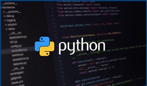 Graphic representing Python programming code