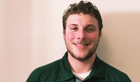 A smiling Zachary Hawk