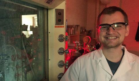 Bradley McCullough, portrait in lab