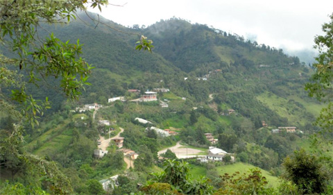 Cloud Forest of Ecuador, photo of village in mountains