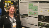 Marcel Weigand presents her poster on the Eastern box turtles in the Wayne National Forest.