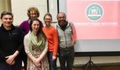 R. Montúfar, T. Moran, M. Nally, D. Bikowski, & M. Ayala at the Community Food Initiatives' Seed to Sustainability Workshop in Athens, January 2018
