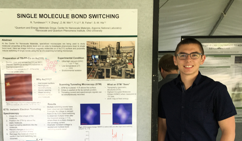 Engineering Physics major Ryan Tumbleson at Argonee National Lab
