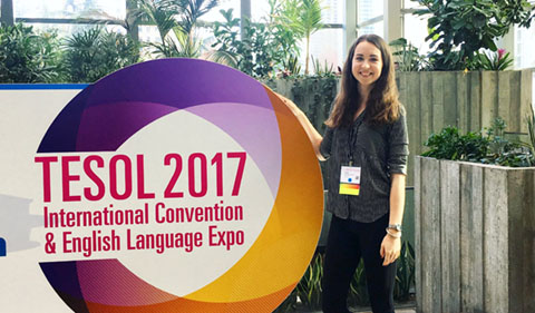 Bychkovska presented at 13 conferences while studying and working with ELIP and the Linguistics Department