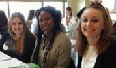 Lauren Lowe, Aissatou Boye, and Carrie Ramage