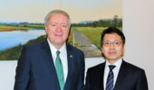 Ohio University President M. Duane Nellis and Iwate Prefectural University Vice President, University Administration, Dr. Jun Ishido