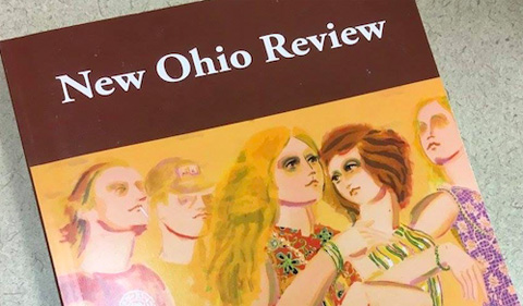 Issue 23 of New Ohio Review, cover showingillustration of group of five people